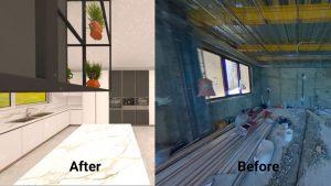 عکس قبل و بعد از طراحی